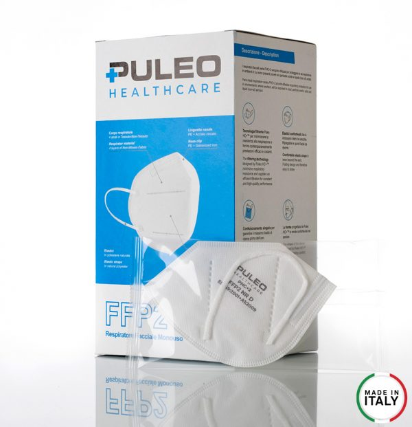 puleo healthcare respiratore filtrante ffp2 pack1