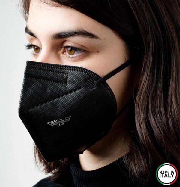 puleo healthcare respiratore filtrante ffp2 nera00