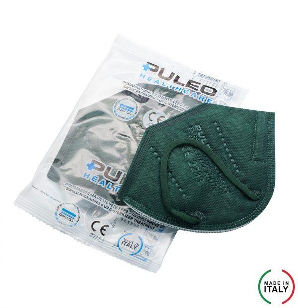 puleo healthcare respiratore filtrante ffp2 verde